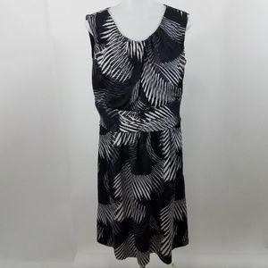 Classiques Entier Dress 12 Sheath Silk Black Gray